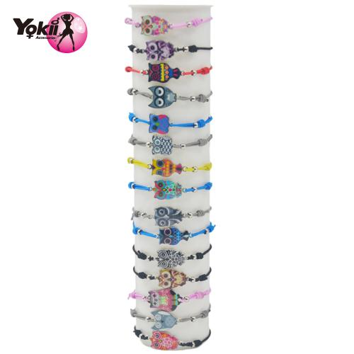 Creative Hand made Alloy 6 color owl Bracelets For Women Kids Bracelet 30pcs