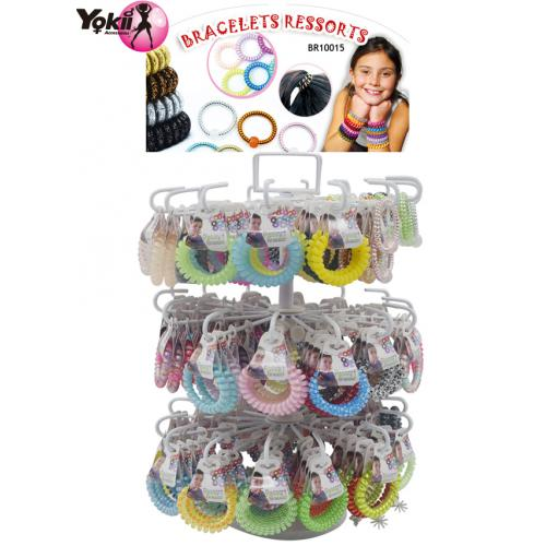 2 in 1 Bracelet & Hair Ties Display(252pcs/Display incl.Header)